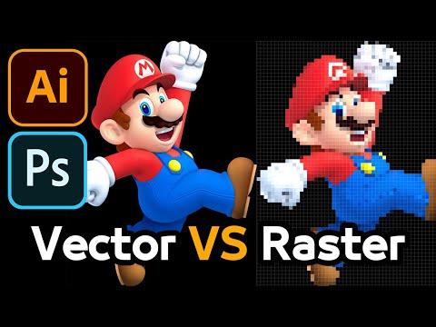 الفرق بين الفيكتور و الراستر - Vector VS Raster