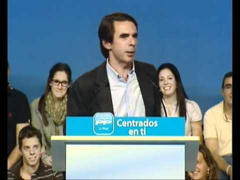 Mitin José María Aznar en Logroño