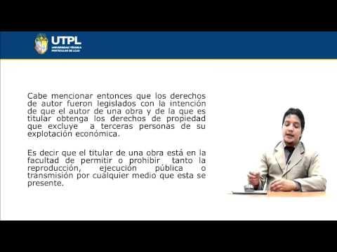 UTPL DERECHOS DE AUTOR [(CIENCIAS JURÍDICAS)(NUEVAS TECNOLOGÍAS APLICADAS AL DERECHO)]