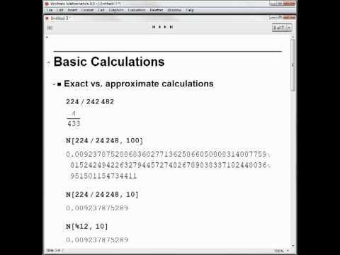 Hands-on Start to Mathematica: Presentations