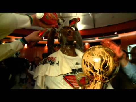 Heat go wild in locker room celebration!