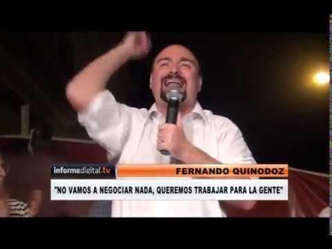 <b>Acto del Frente Renovador.</b> Fernando Quinodoz lanz� su candidatura a intendente de Paran�