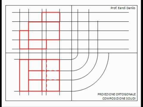 Proiezione ortogonale composizione di solidi 2