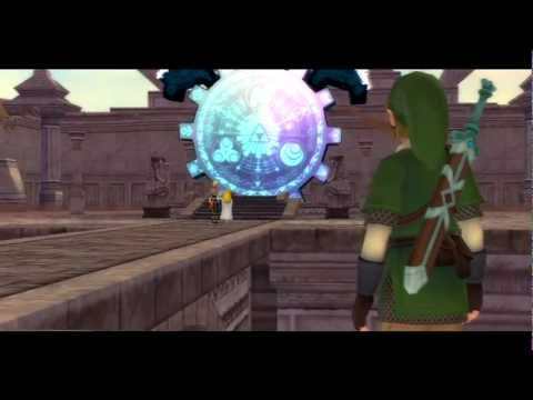 [HD] Skyward Sword - Cutscenes PART 6 - Battle on Bridge & Groose's crash landing...