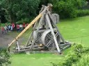 Trebuchet shooting a fireball