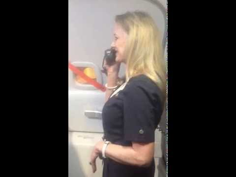 Trending: Flight attendant turns safety announcement into a comedy sketch