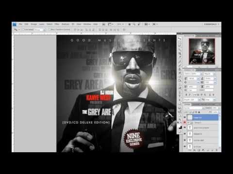 Photoshop cs4 Kanye West Album Mixtape Cover