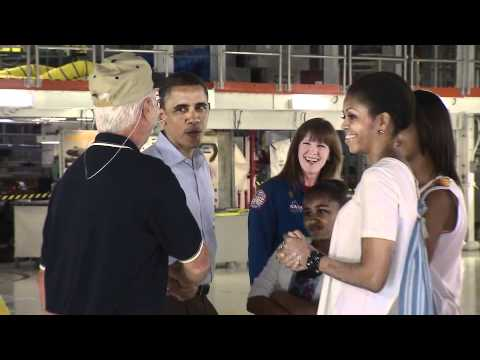 President Obama, Family Visit Kennedy Space Center