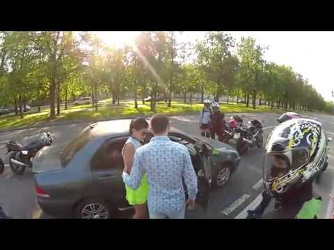 You could never expect this especially from a Russian road video