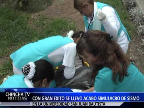 SIMULACRO DE SISMO UPSJB FILIAL CHINCHA 31 MAYO