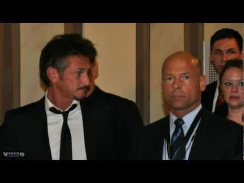 Sean Penn protected by Michael Kuhr - Cinema for Peace 2011