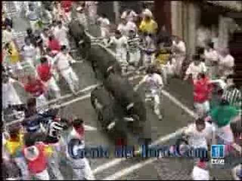 Primer ENCIERRO SAN FERMIN 7/07/2007