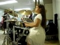 Abigail playing drums (8 yrs old-Sept 2010) Si el Espiritu de Dios no ha tocado...