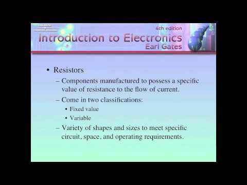 Chapter 4 - Electronics 110 Resistance