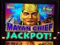 HUGE JACKPOT! 700 SPINS MAYAN CHIEF slot machine Max bet Bonus HANDPAY