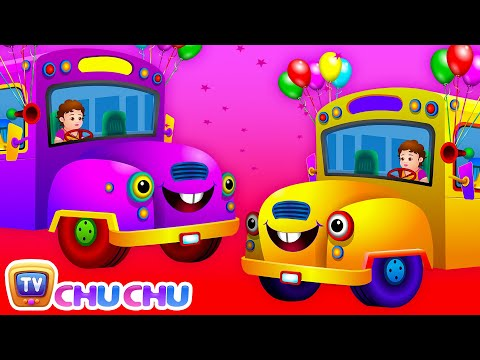 The Wheels on the Bus Rhyme with Lyrics - English Nursery Rhymes Cartoon Animation Song