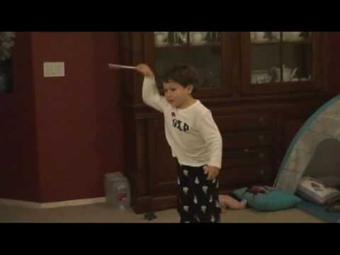 3 year old Jonathan conducting to the 4th movement of Beethoven-s 5th Symphony