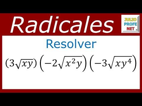 Multiplicación de radicales del mismo índice