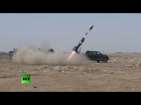 COMBAT FOOTAGE: Iraqi heavy-weaponry hammers ISIS in battle for Tikrit
