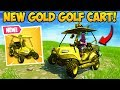 *FIRST EVER* GOLD GOLF CART FOUND! - Fortnite Funny Fails and WTF Moments! #320