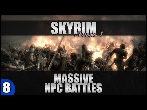 Skyrim Large Scale AI Battles   1080p - Battle #8: 4 Giants VS 1 Dwarven Centurion Master