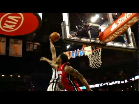 Kawhi Leonard Throws Down Over Udonis Haslem