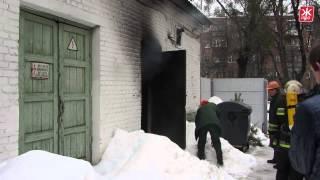 Из-за пожара десятки домов в центре Житомира остались без света