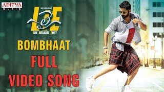 Bombhaat Full Video Song  Lie Video Songs  Nithiin , Megha Akash  Mani Sharma
