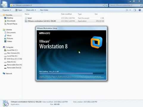 Installing VMware Workstation 8 on Windows 7 & Preperation for CUCM 8.6 Installation