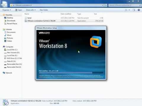 Installing VMware Workstation 8 on Windows 7 & Preperation for CUCM 8.6 Installation