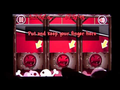 Cut Fingers: Online iPad App Demo CrazyMikesapps
