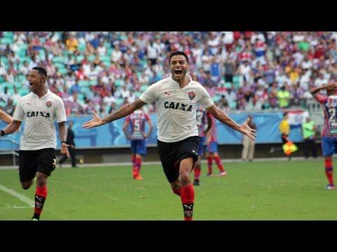 Veja os gols de Bahia 1 x 2 Vitória