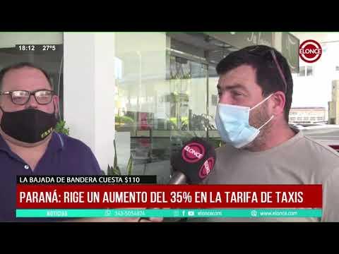 Rige un aumento del 35% en la tarifa de taxis en Paraná