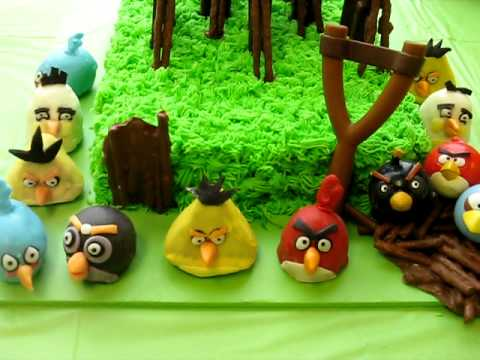 Angry Birds Birthday Party! ~ Playable Cake ~ Cake Pops ~ Sheet Cake ~ Decorations