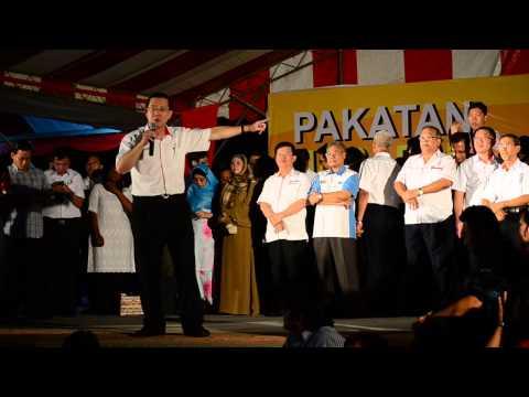 未来槟州首席部长林冠英 Lim Guan Eng at Ceramah Umum Esplanade 19/4/2013 Part 1