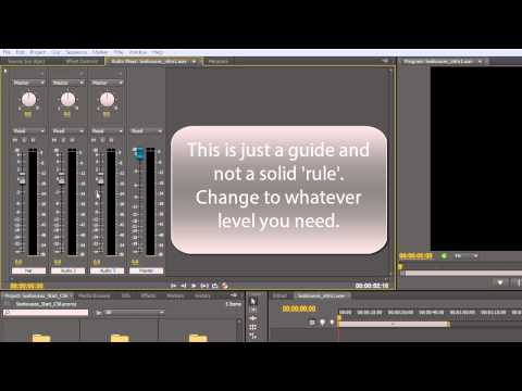 Premiere Pro CS6 Techniques: 76 Audio 6: The Audio Mixer