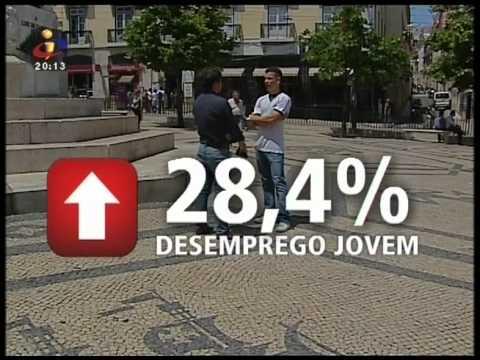 Desemprego em Portugal - 13/07/12 TVI