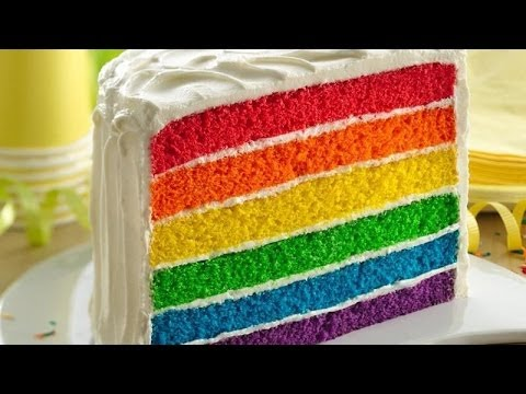 Alicia's Rainbow Cake - Dessert