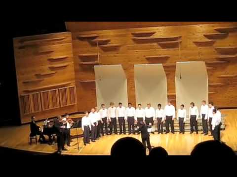 Men's Choir sings A La Nanita Nana