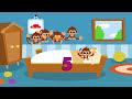 Фрагмент с начала видео - 5 little Monkeys jumping on the bed nursery rhyme  -- Morphle's Nursery Rhymes