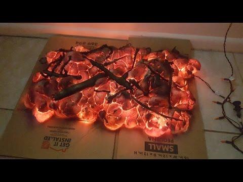 DIY Halloween fire prop - default
