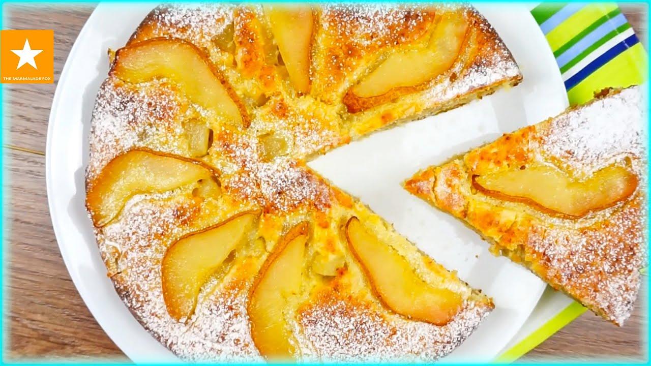 Быстрый пирог с грушей рецепт