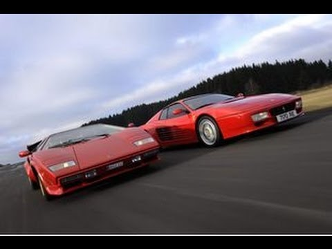 80 s v12 legends clash ferrari testarossa vs lamborghini. Black Bedroom Furniture Sets. Home Design Ideas