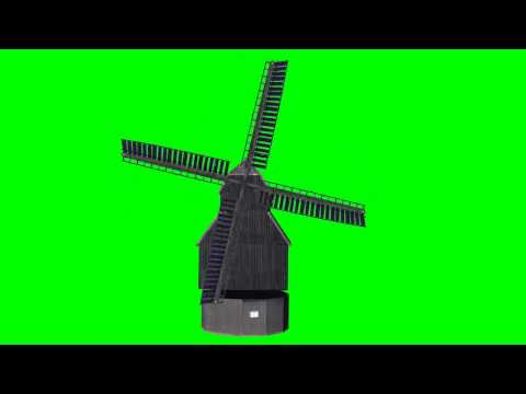 "windmill (buck-windmill) animated  - ""free Chroma Key Effekts"""
