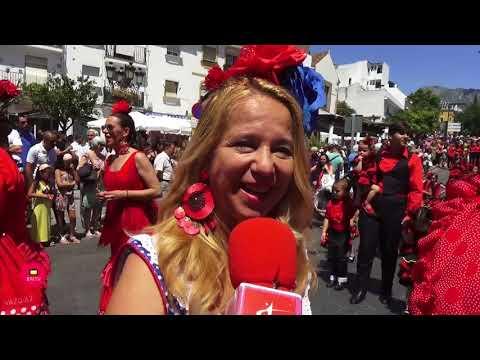 Vídeo: Procesión del Patrón San Bernabé de la Feria de Marbella 2018.