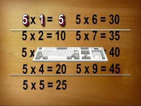 九九乘法歌-5乘法-輕鬆快樂唱誦法