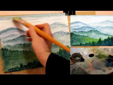 О видео « КАК научиться РИСОВАТЬ. Рисуем ПЕЙЗАЖ гуашью.
