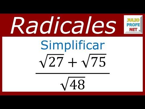Simplificación de una expresión con raíces numéricas