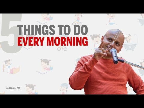 5 things to do every morning