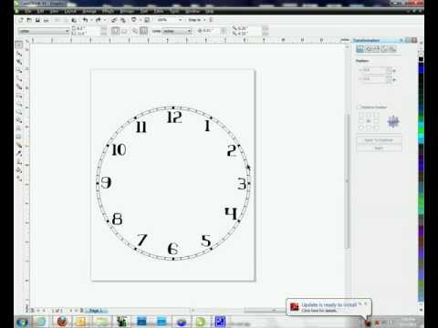 Creating Clock Faces in Corel Draw - Method #2